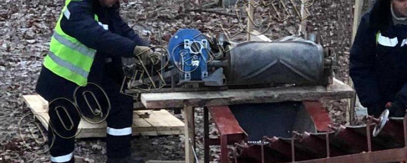 Монтаж конвейерного оборудования цепи на транспортеры